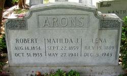 Matilda <i>Jacoby</i> Arons