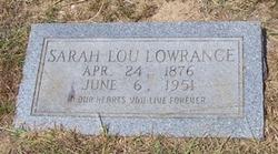 Sarah Loucretia Lou <i>Holland</i> Lowrance