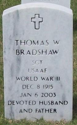 Sgt Thomas White Bradshaw