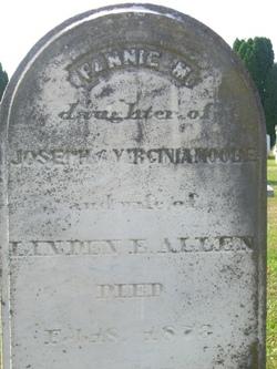 Fannie Margaret <i>Moore</i> Allen