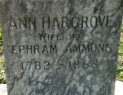 Ann <i>Hargrove</i> Ammons