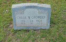 Chloe W Crowder
