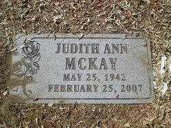 Judith Ann Judi <i>Adams</i> McKay