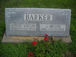 Minnie Alice <i>Yocum</i> Barker