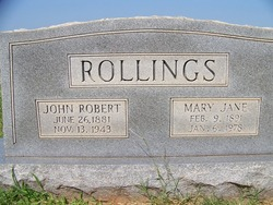 Mary Jane <i>Jones</i> Rollings