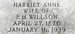 Harriet Anne Willson