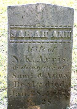Sarah Ann <i>Beal</i> Arris