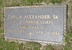 Sgt Carl Albert Alexander, Sr