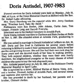 Doris Venita <i>Jordan</i> Antisdel