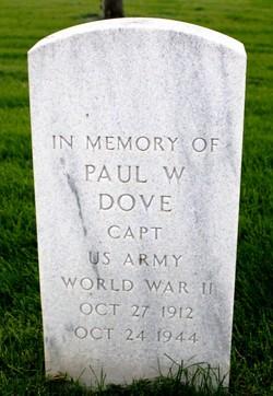 Capt Paul W Dove