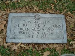PFC Patrick Arnold Lyons