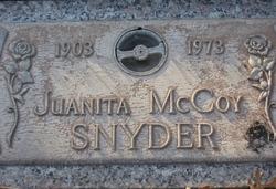 Juanita <i>McCoy</i> Snyder
