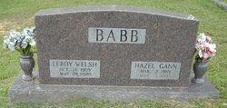 Hazel <i>Gann</i> Babb