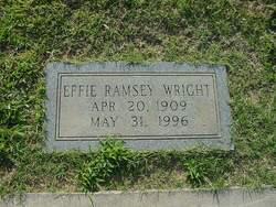 Effie Mae <i>Ramsey</i> Wright