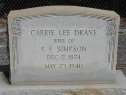 Carrie Lee <i>Drane</i> Simpson