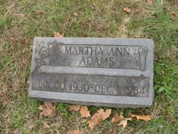 Martha Ann Adams