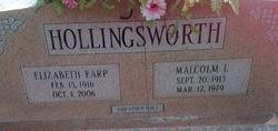 Elizabeth <i>Earp</i> Hollingsworth