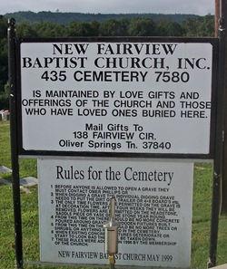 New Fairview Baptist Church Cemetery