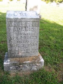 Annie E <i>Cobb</i> Adams