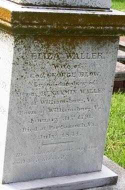 Eliza <i>Waller</i> Blow
