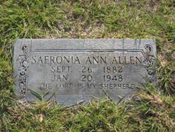 Safronia Ann <i>Womack</i> Allen