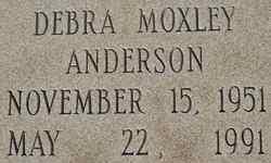 Debra <i>Moxley</i> Anderson