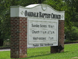 Oakdale Baptist Church Cemetery