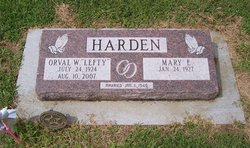 Orval Worley Lefty Harden