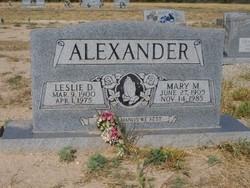 Leslie Duff Alexander