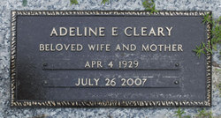 Adeline E Addie Cleary