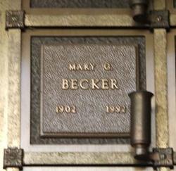 Mary Genevieve <i>Hill</i> Becker