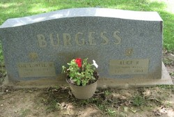Alice R <i>Johnson</i> Burgess