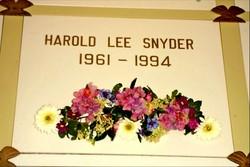 Harold Lee Lee Snyder