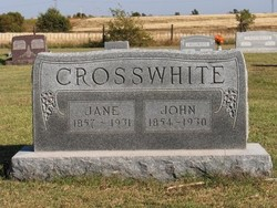 Martha Jane Jane <i>Barker</i> Crosswhite