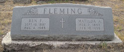 Mathilda Ann <i>Bennack</i> Fleming