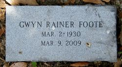 Gwyn <i>Rainer</i> Foote