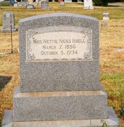 Nettie <i>Salisbury</i> Isbell