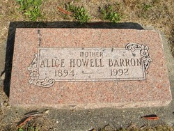 Alice <i>Howell</i> Barron