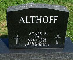 Agnes A. <i>Dust</i> Althoff
