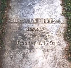 Sally Stovall <i>Staples</i> Hairston