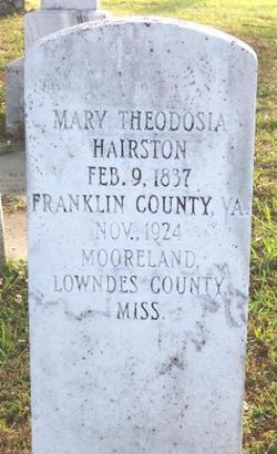 Mary Theodosia Hairston