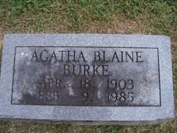 Agatha <i>Blaine</i> Burke