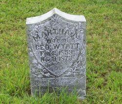 Martha Ann <i>Vernon</i> Wyatt