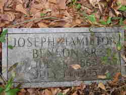 Rev Joseph Hamilton Benson, Sr