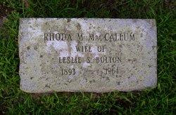Rhoda Marguerite <i>MacCallum</i> Bolton