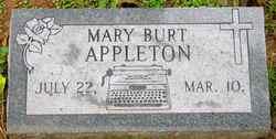 Mary <i>Burt</i> Appleton