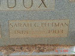 Sarah C. <i>Pittman</i> Maddox