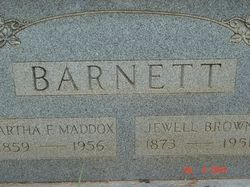 Martha F. <i>Maddox</i> Barnett