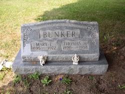 Mary E <i>Warner</i> Bunker