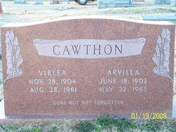 Arvilla Louise <i>Davis</i> Cawthon